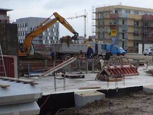 Haus bauen baustelle  Baustelle: Der Bau